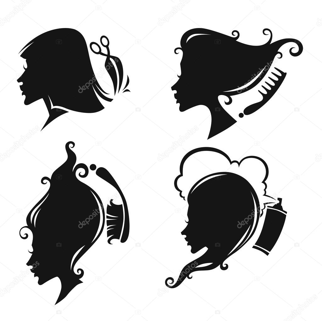 1023x1021 Hairdresser Stock Vectors, Royalty Free Hairdresser Illustrations