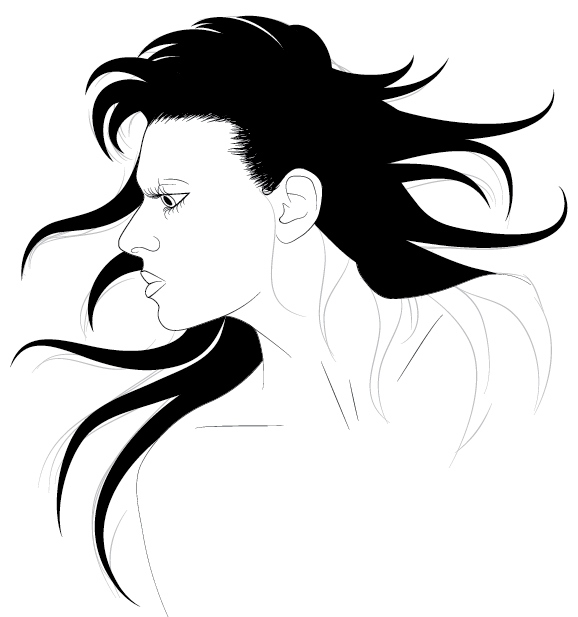 578x617 How To Illustrate Dynamic Hair Using Adobe Illustrator'S