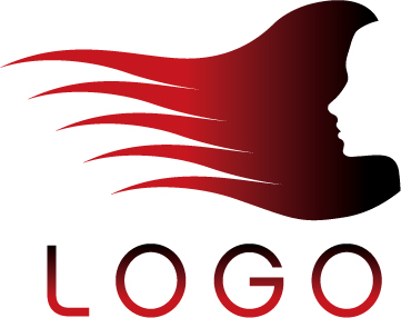 361x286 Keyword Female Head Of Hair Flowing Hair Side Vector Logo Material