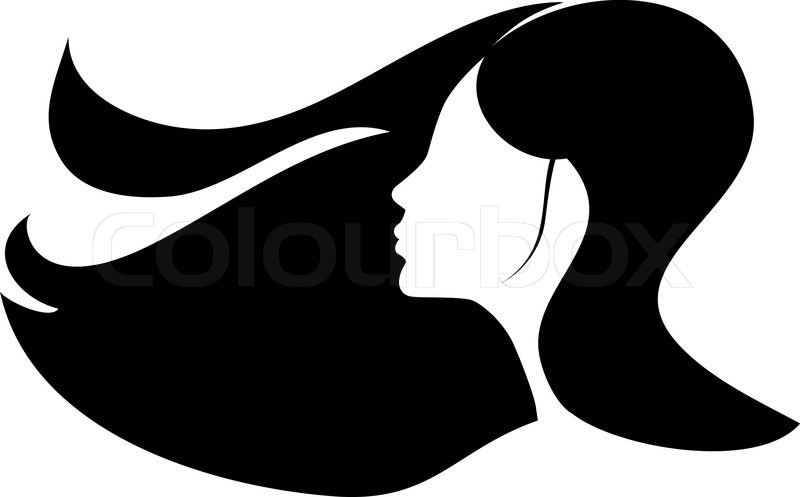 800x497 Woman With Long Black Hair Stock Vector Colourbox