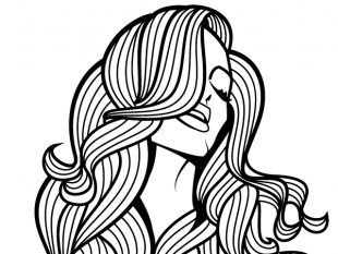 310x233 Beautiful Girl With Long Hair Vector Image Free Vectors Ui