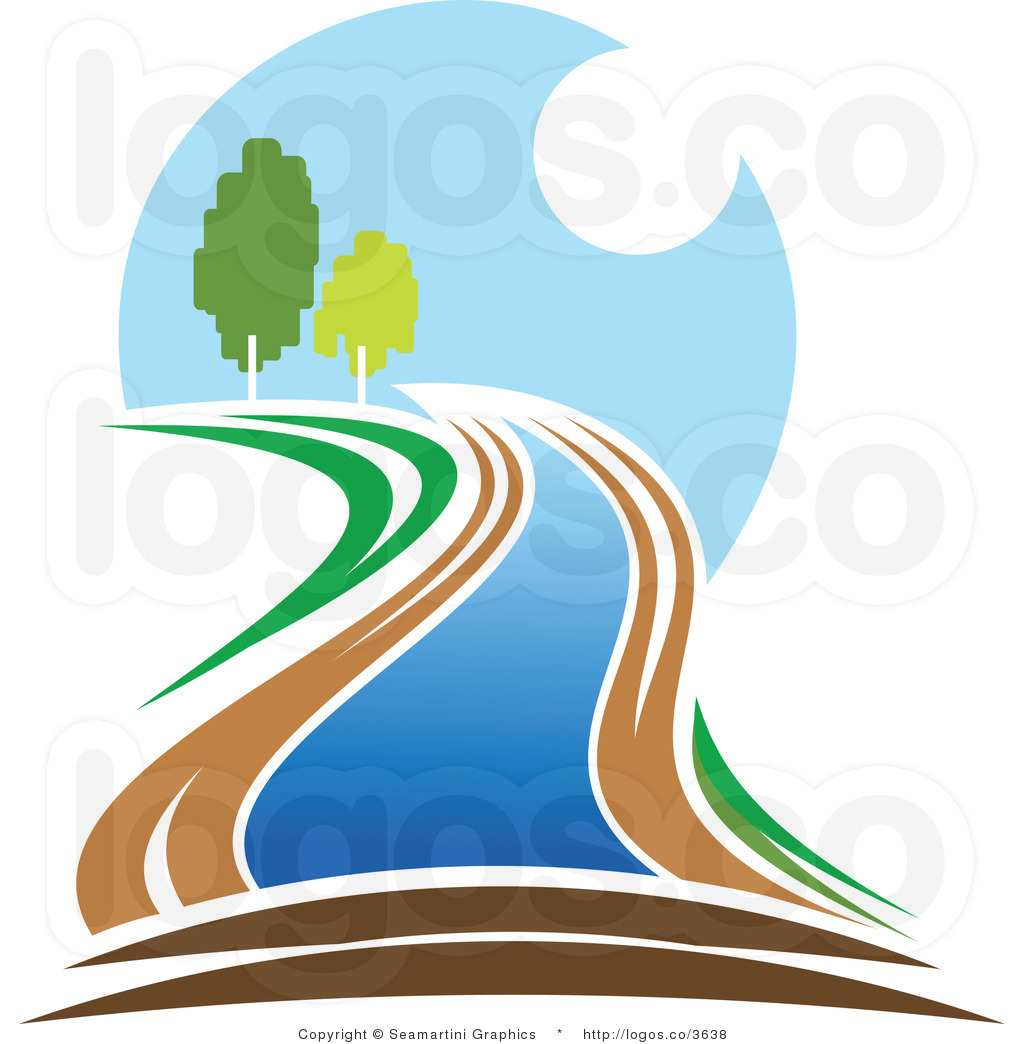 1024x1044 Flowing River Clipart