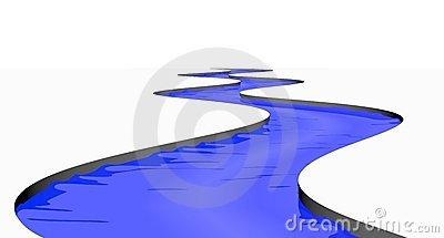 400x215 Stream Clipart Winding River