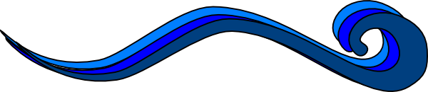 600x130 Flowing Water Clip Art Cliparts