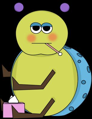 307x400 Flu Bug Clip Art