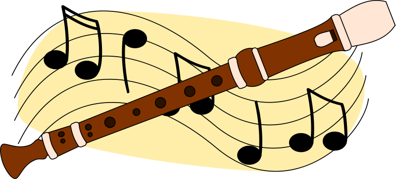 800x363 Free Flute With Music Staff Clip Art