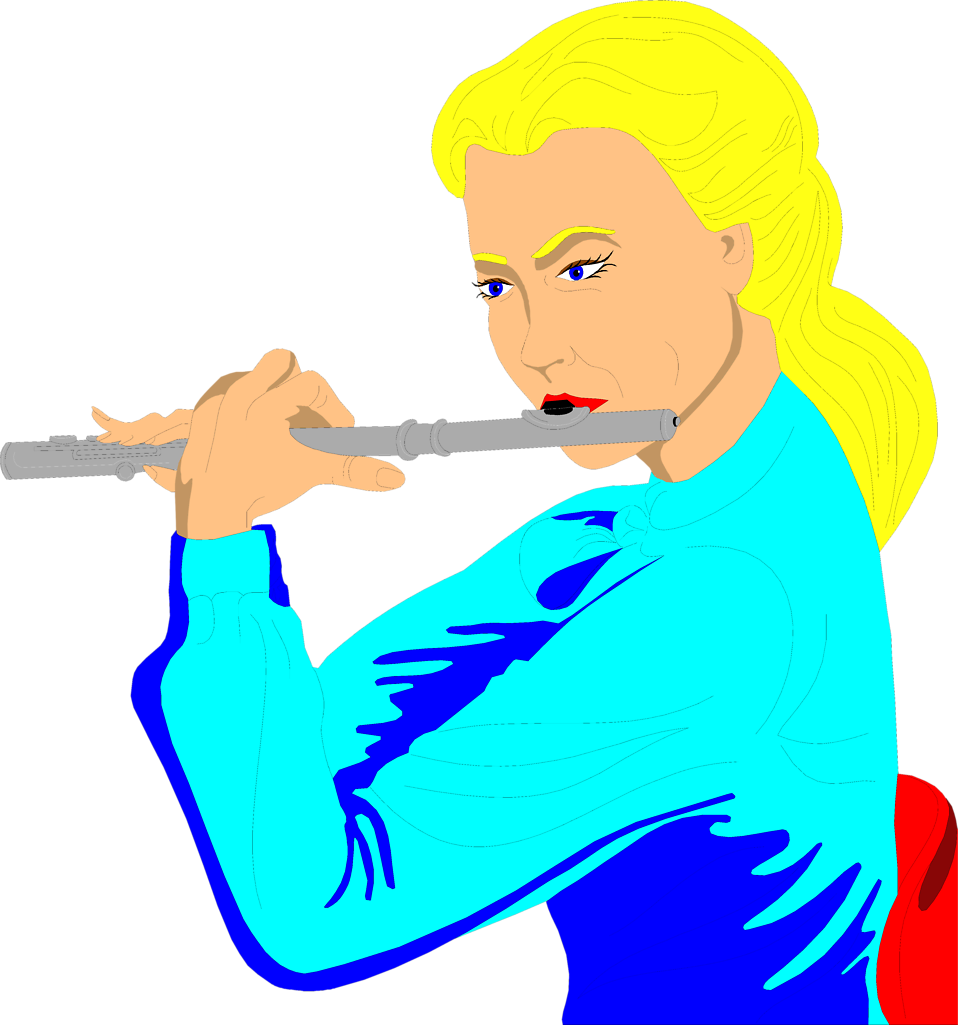 958x1025 Flute Free Stock Photo Illustration Of A Woman Playing A Flute