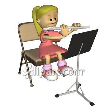 350x350 Flute Clipart Flute Player
