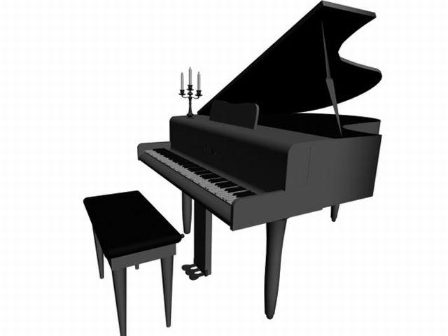 640x480 Grand Piano Clip Art