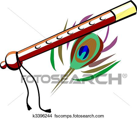 450x390 Drawings Of Flute With Brown Colour K3396244