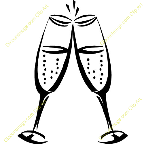 500x500 Champagne Glasses Clipart