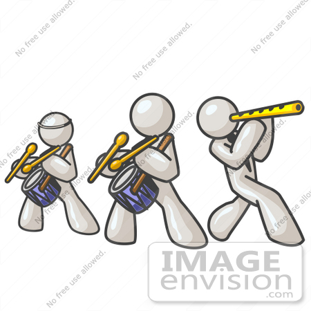 450x450 Clip Art Graphic Of White Guy Characters Playing Flutes And Drums