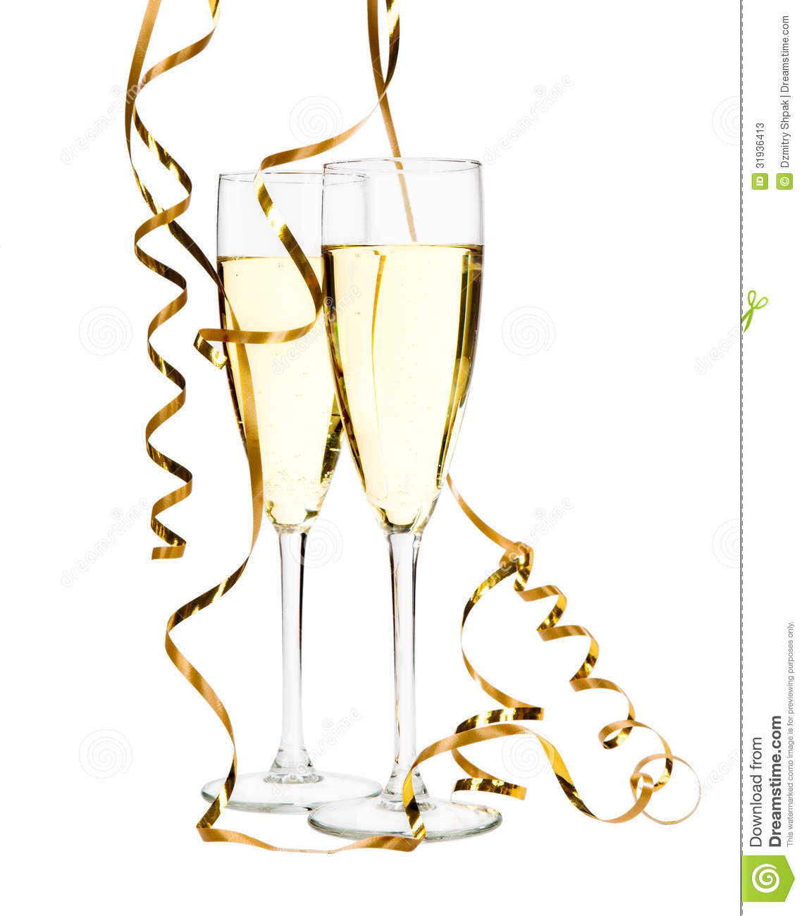 1141x1300 Gold Champagne Flutes Clipart