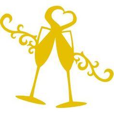 236x236 New Year Champagne Flutes Clipart Ano Novo