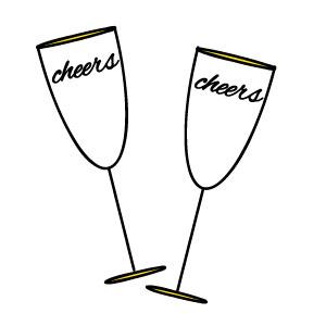 300x300 Silver Clipart Champagne Glass
