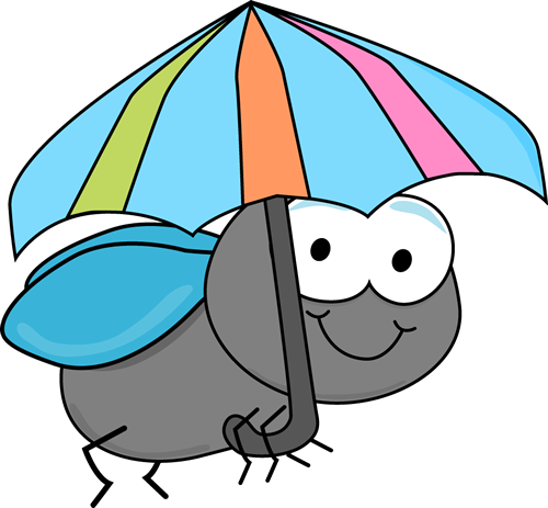 500x463 Fly And Umbrella Clip Art