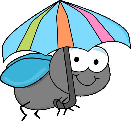 500x463 Fly And Umbrella Clip Art