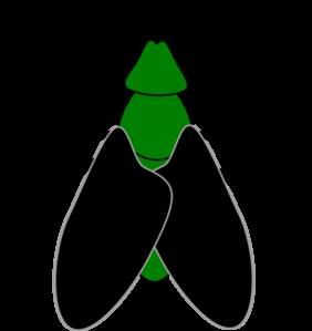 282x299 Green Fly Black Clip Art