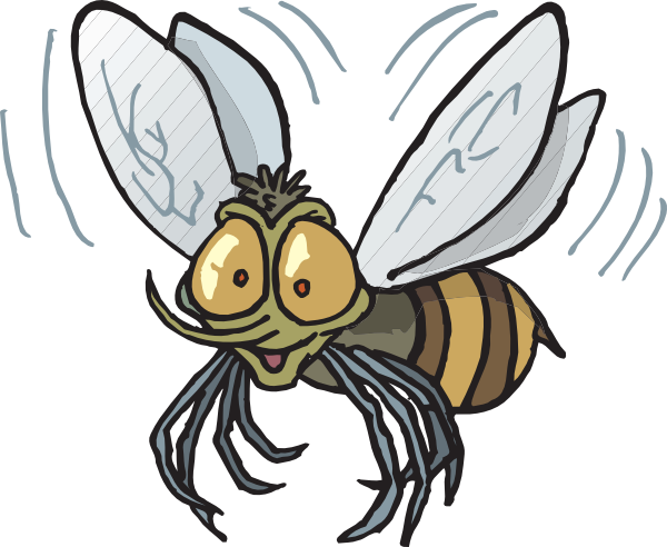 600x492 Bee Flying Clip Art