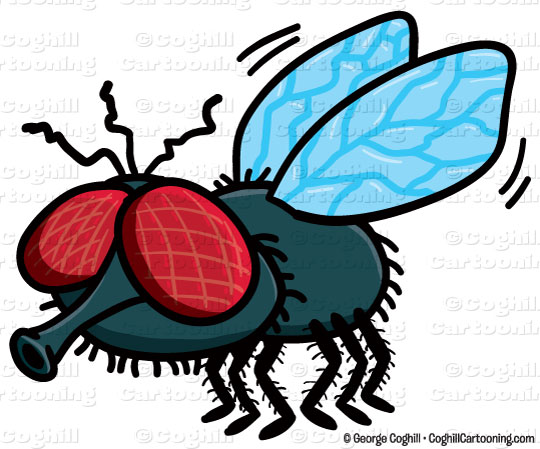 540x449 Cartoon Fly Clip Art Stock Illustration