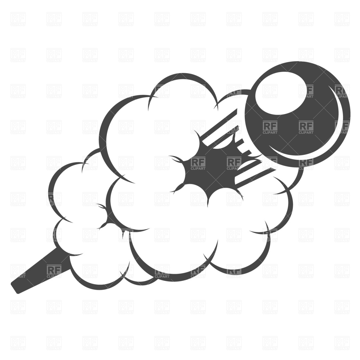 1200x1200 Flying Cannonball Royalty Free Vector Clip Art Image