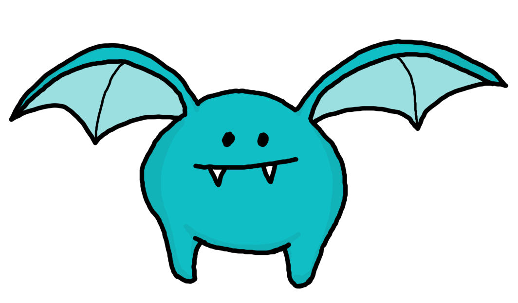 1064x623 Bat Fly Monsters Clipart