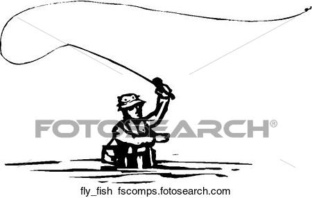 450x286 Clipart Of Fly Fishing Fly Fish