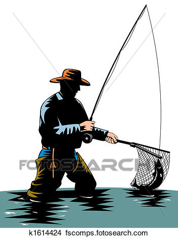 351x470 Drawings Of Fly Fishing K1614424