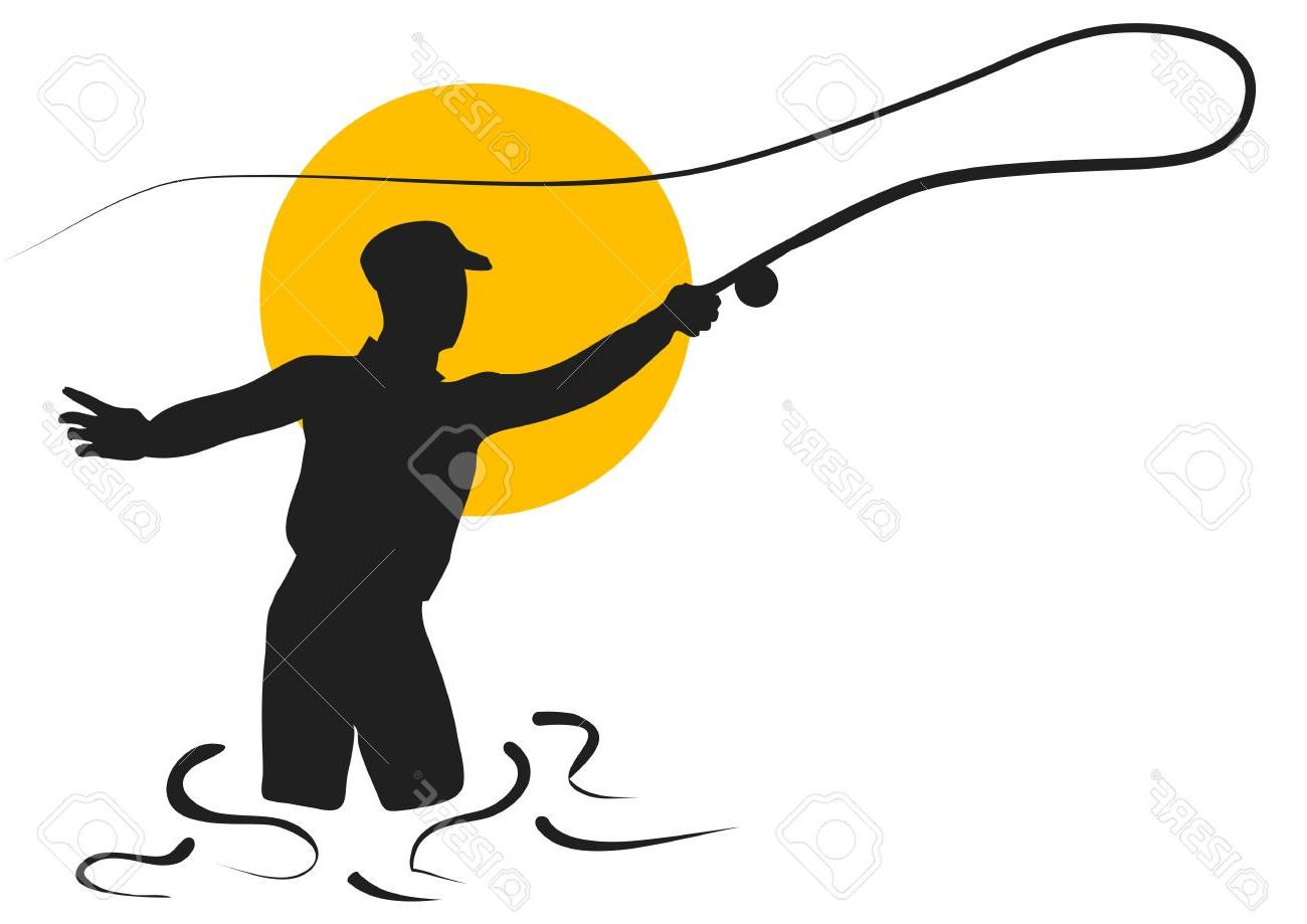 1300x919 Top 10 Fly Fishing Silhouette Of Man Isolated On White Background