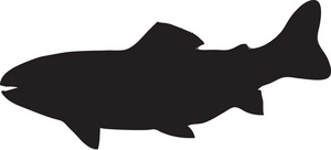 300x136 Fish Silhouette Clip Art Many Interesting Cliparts