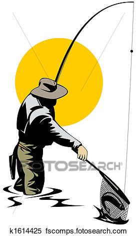 274x470 Stock Illustration Of Fly Fishing K1614425
