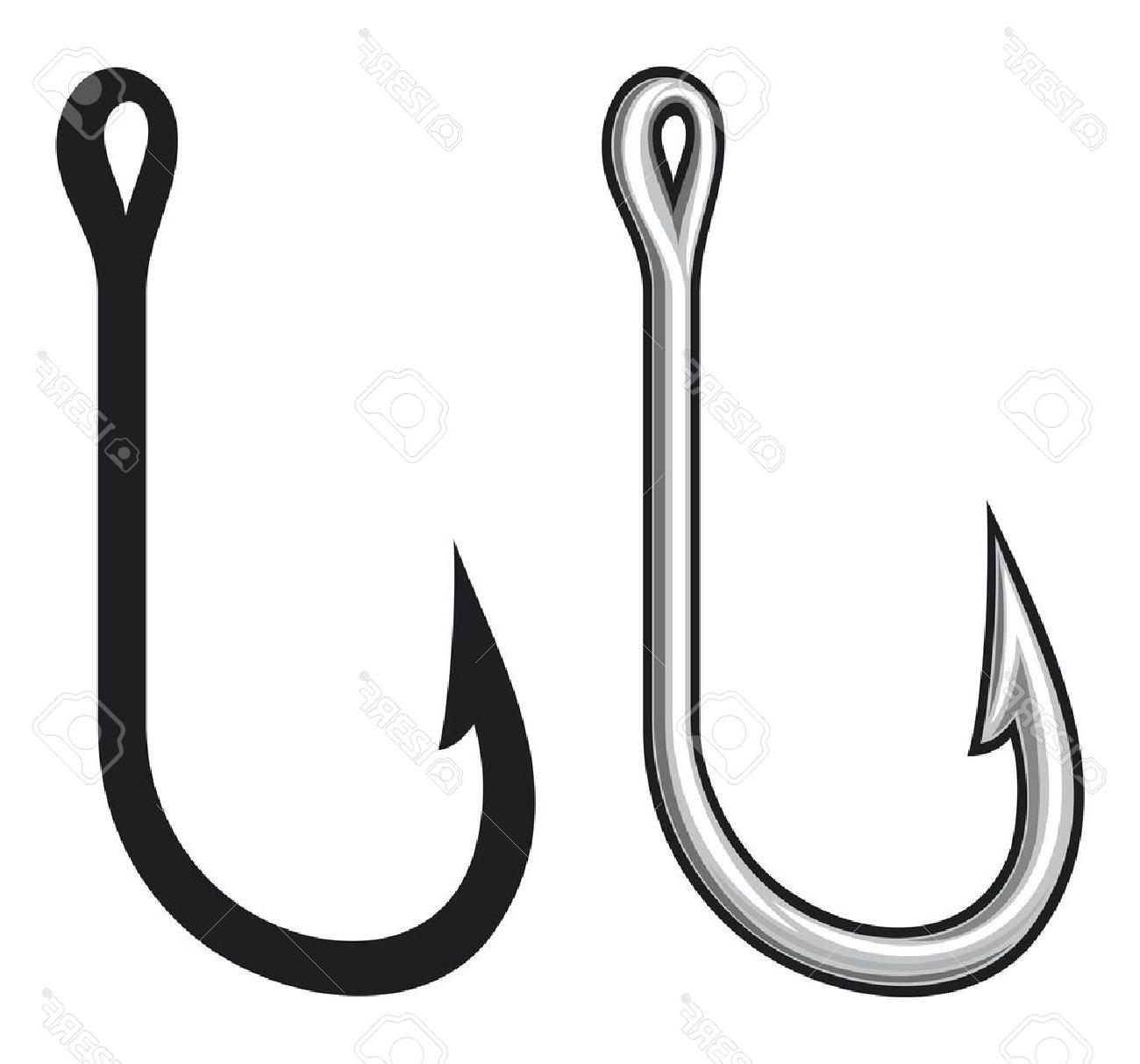 1300x1213 Best J Fishing Hook Vector Pictures Free Vector Art, Images