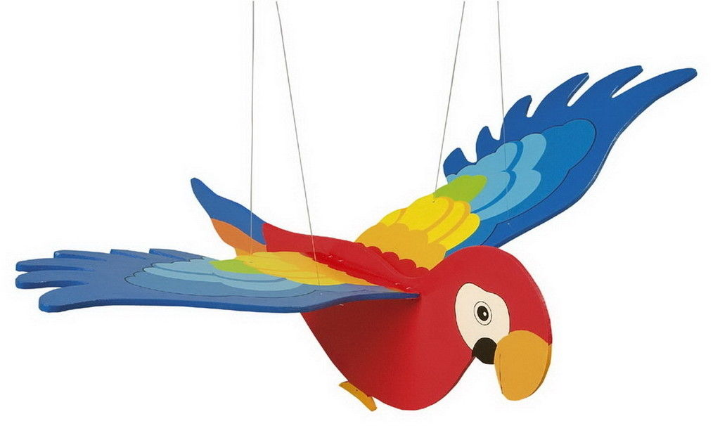 1024x616 Wooden Toy Hanging Flying Flapping Seagull Parrot Eagle Nursery