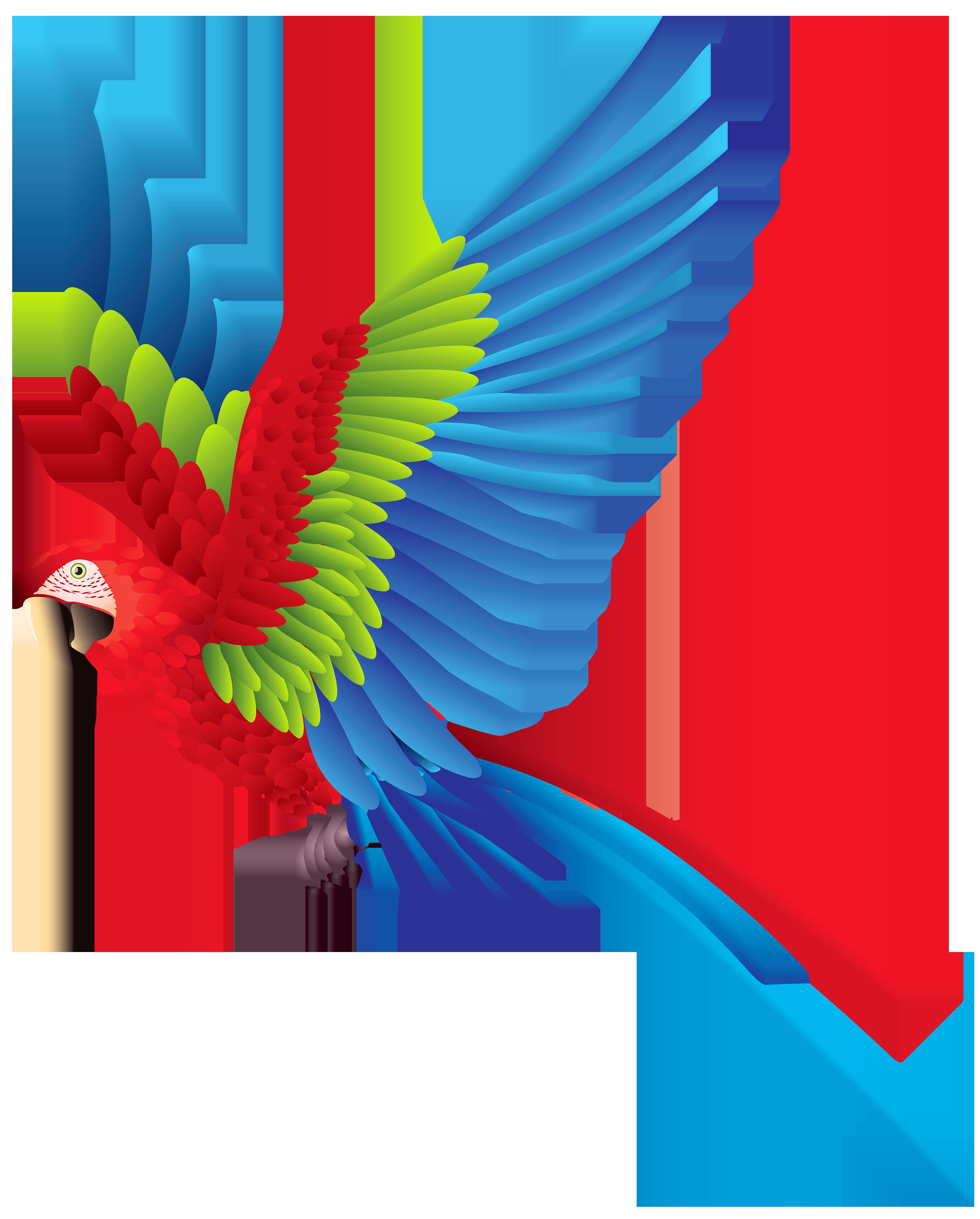 3214x4000 Brds Clipart Parrot