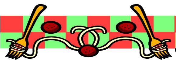 580x216 Clip Art Spaghetti Border Clipart
