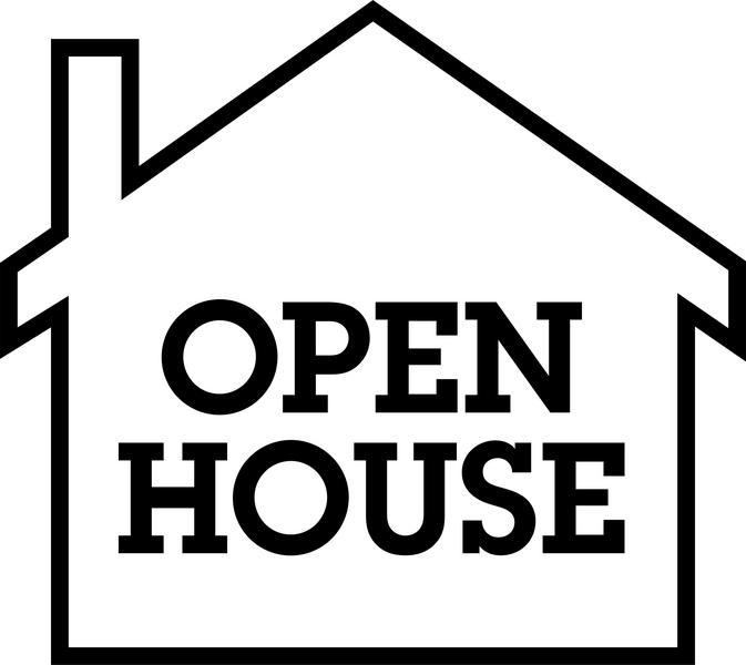 673x600 Free Clipart For Open House Flier