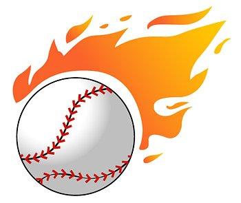 350x295 Baseball Flame, Vector File