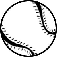 200x200 Flying Baseball Clipart