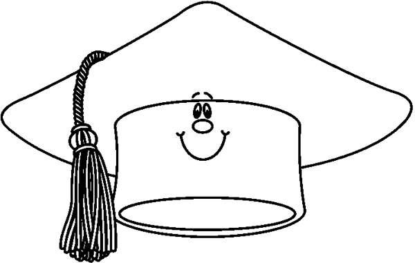 600x381 Graduation Cap Clipart Black And White