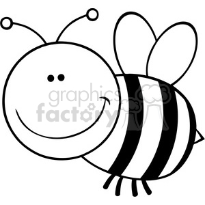 300x300 Royalty Free 5594 Royalty Free Clip Art Smiling Bumble Bee Cartoon
