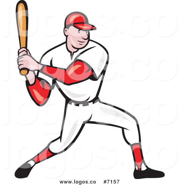 600x620 Royalty Free Clip Art Vector Logo Of A Baseball Player Batting By