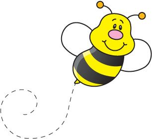 306x279 Bees Clipart Trail