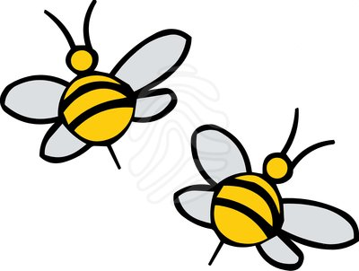 400x302 Best Flying Bee Clipart