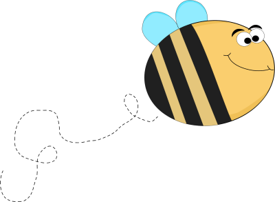 400x293 Funny Bee With Big Eyes Flying Clip Art