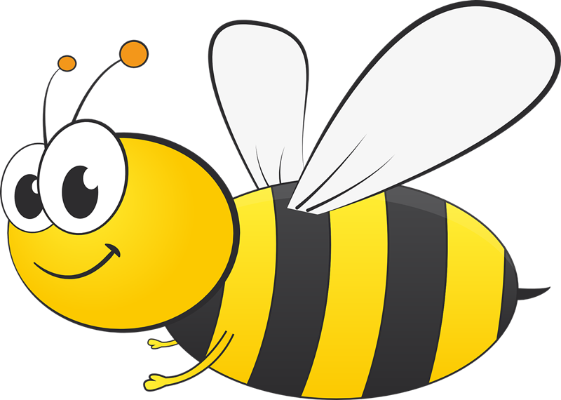 800x570 Bee Flying Clipart