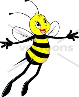 260x320 Bee Flying With Wings