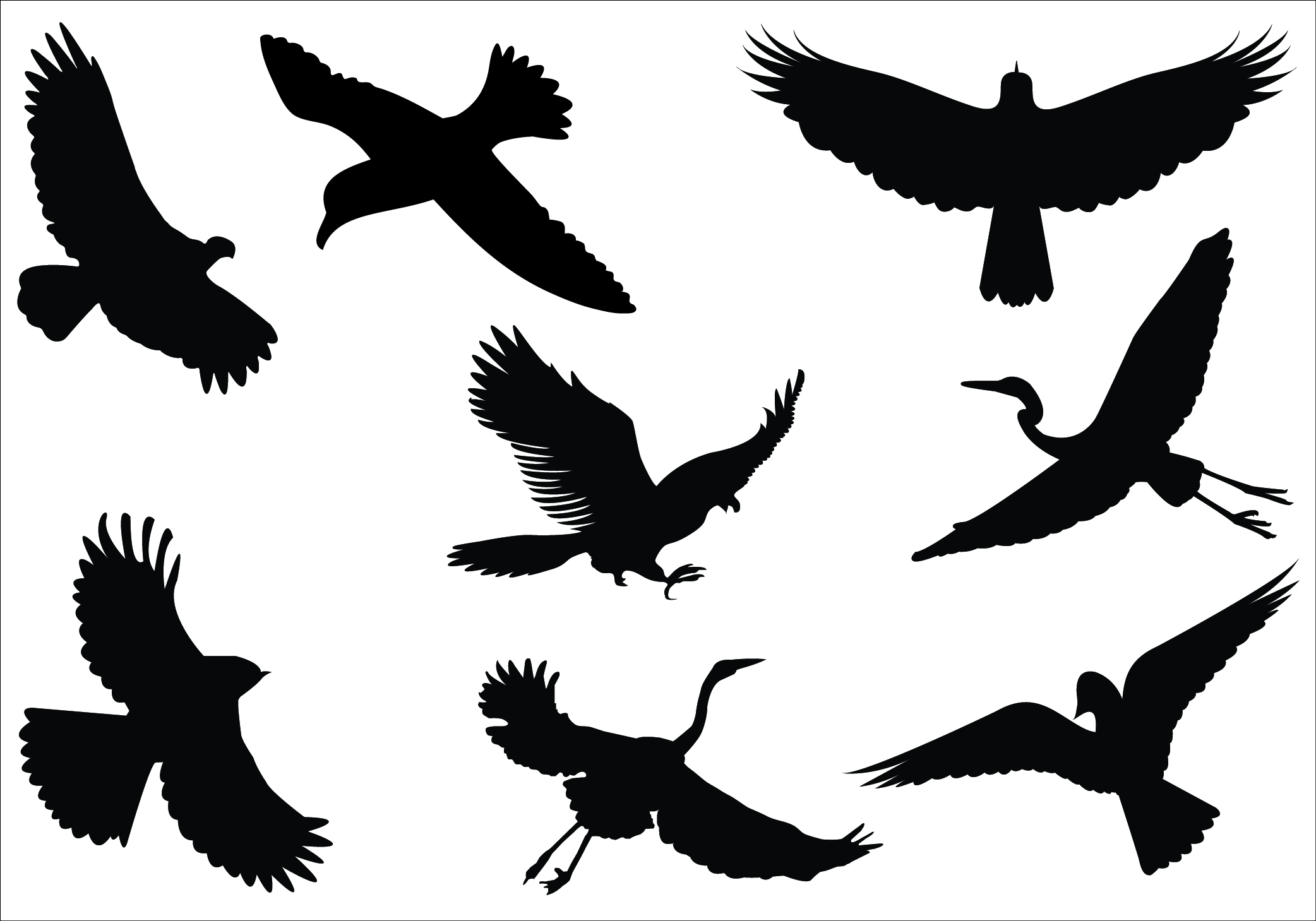 2084x1459 Crow Clipart Flight Silhouette
