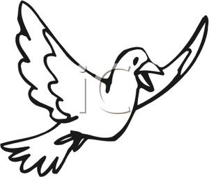 300x255 And White Dove In Flight Clipart Picture
