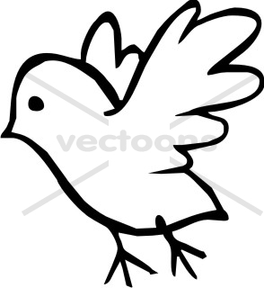 294x320 Bird Outline Clip Art