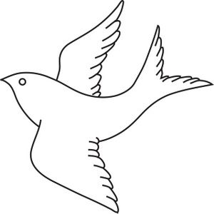 300x300 Bird Clipart Bird Clipart Image Bird In Flight Outline Drawing